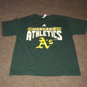 ADIDAS - Green Athletic A's T-Shirt